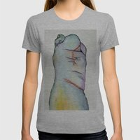 Macrodactyly Womens Fitted Tee Athletic Grey SMALL