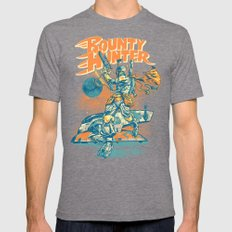 BOUNTY HUNTER Mens Fitted Tee Tri-Grey SMALL