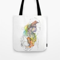 Abstract Portrait Illustration Watercolor Painting  Tote Bag