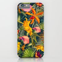 iPhone & iPod Case featuring Tropical flowers and leaves pattern by Vasilisa Wise