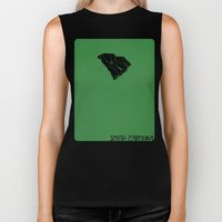 South Carolina Minimalist Vintage Map Biker Tank
