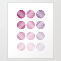 Line Round Art Print