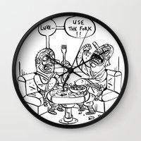 the ultimate joke - black & white Wall Clock