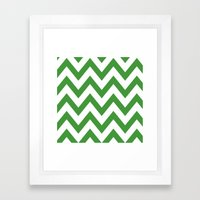 MEAN GREEN CHEVRON Framed Art Print