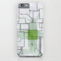 Circuit Board Green iPhone 6 Slim Case