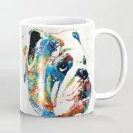 Bulldog Pop Art - How Bo… Mug