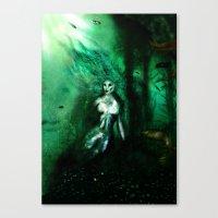 Eerie Mermaid Canvas Print