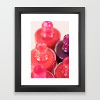 Live A Colorful Life. Framed Art Print