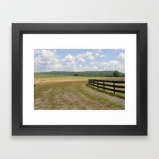 ithaca is fences Framed Art Print