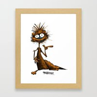 Taboose The Meerkat Framed Art Print