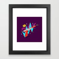 Pixel Blaster Framed Art Print