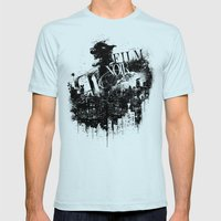 Like a Film Noir Mens Fitted Tee Light Blue SMALL