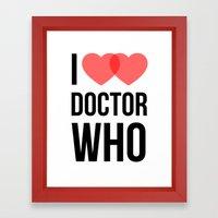I ♥♥ Doctor Who Framed Art Print