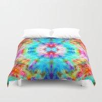 Rainbow Sunburst Duvet Cover