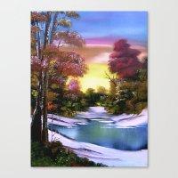 First Snows of Autumn Canvas Print