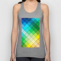 Colourful Squares Unisex Tank Top