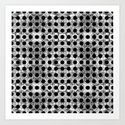 black dot system Art Print