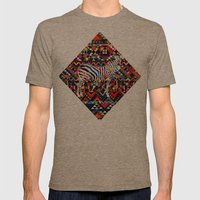 Tribal Zebra Mens Fitted Tee Tri-Coffee SMALL