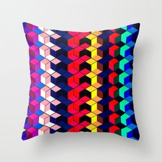 Spectrum Cubes / Pattern #7 Throw Pillow