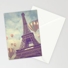 Balloons over Paris Stationery Cards