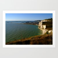 Dover Docks And The Famo… Art Print