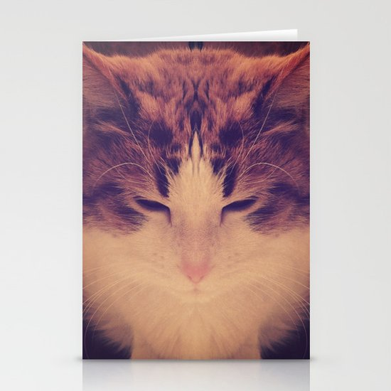 Symmetrical Feline Stationery Card