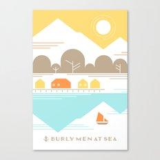 Burly Men at Sea Village Canvas Print