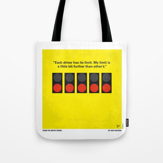 No075 My senna minimal movie poster Tote Bag