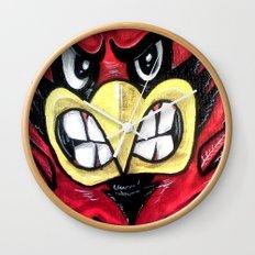 Fighting Cardinal Wall Clock