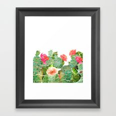 scratched cactus Framed Art Print