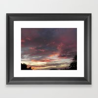 Caribbean Sunset II Framed Art Print
