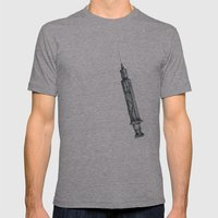 Mosquito vaccinator Mens Fitted Tee Athletic Grey SMALL