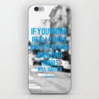 Work Hard iPhone & iPod Skin