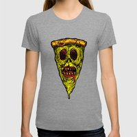 Pizza Face - Zombie Womens Fitted Tee Tri-Grey SMALL