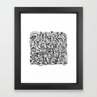 Bunnies & Skulls Framed Art Print