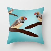 Three Little Birds Throw Pillow