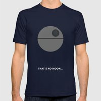Star Wars Minimalism - Death Star Mens Fitted Tee Navy SMALL