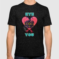 EYE ❤ YOU Mens Fitted Tee Tri-Black SMALL