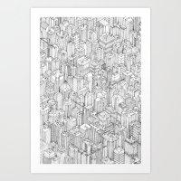 Isometric Urbanism Pt.1 Art Print