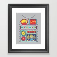 Retrobot Framed Art Print