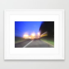 night drive Framed Art Print