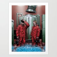 Blue Meth Art Print