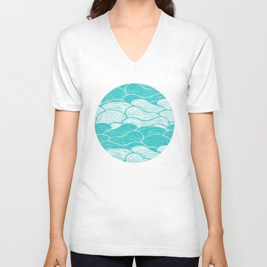 The Calm and Stormy Seas V-neck T-shirt