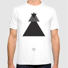The Triangle Experiment Mens Fitted Tee White SMALL