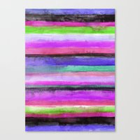 Watercolour Stripe Canvas Print