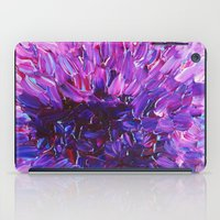 LOTUS BLOSSUM - Beautiful Purple Floral Abstract, Modern Decor in Eggplant Plum Lavender Lilac iPad Case