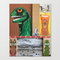 Tiki Monsters Of Mass Destruction Canvas Print