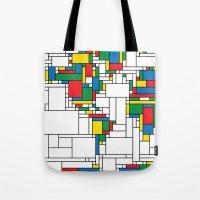 Modern World Map Tote Bag