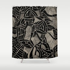 - cosmophobic cow - Shower Curtain