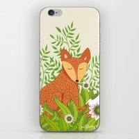 Fox In The Daisies iPhone & iPod Skin